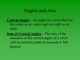 Angles and Arcs