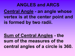 ANGLES and ARCS - Lewiston School District
