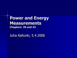Power and Energy measurements