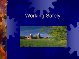Working Safe - Welcome | Wisconsin Office of Rural Health