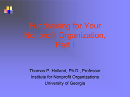 Fundraising for Nonprofit Organizations