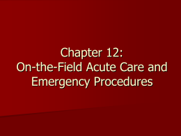 Chapters 12 - 13 - Athletic Medicine