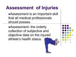 Assessment of Injuries