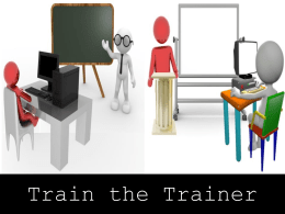 Train-the-Trainer-Demo - Management Study Guide