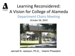 College of Alameda Educational Master Plan