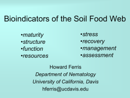 Nematode Faunal Indicators of Soil Food Web Condition