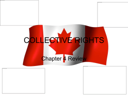 COLLECTIVE RIGHTS - Morinville Community High School