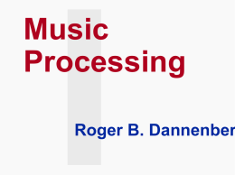 Music Processing - Petra Christian University