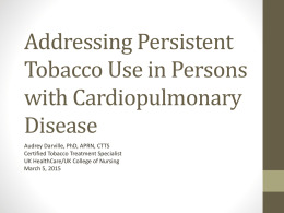 Addressing Persistent Tobacco Use in Persons with