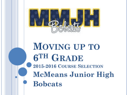 6th Grade Course Selection - Katy Independent School District