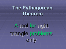 PowerPoint Presentation - The Pythagorean Theorem