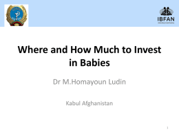 The Need to Invest in Babies