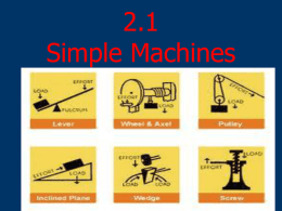 2.1 Simple Machines