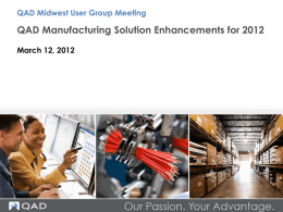 QAD On Demand - Midwest User Group