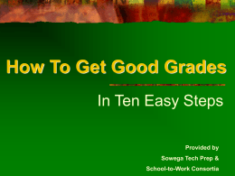 How To Get Good Grades - Dougherty County School System