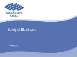 BlueScope Steel - SIRF Roundtables
