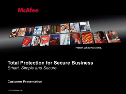 McAFee PowerPoint Best Practices