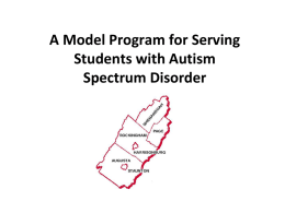A Model Program for Serving Students with Autism Spectrum
