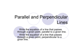 Parallel and Perpendicular Lines - mathemons