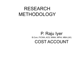 RESEARCH METHODOLOGY - Southern India Regional Council