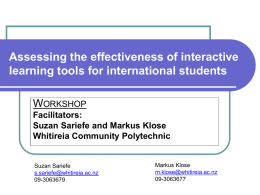 Assessing the effectiveness of interactive learning tools