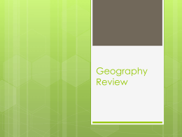 Geography Review - Willis High School