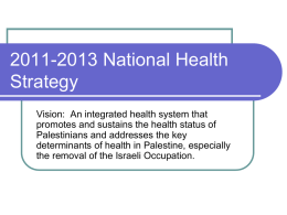 2011-2013 National Health Strategy