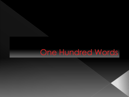 One Hundred Words - Making conversation work for you