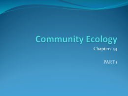 Community Ecology and Ecosystems