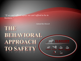The Behavioral Approach to Safety