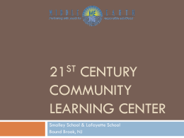 21st Century Community Learning Center