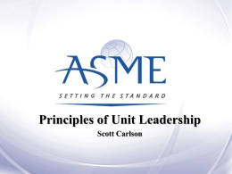 Principles of Unit Leadership