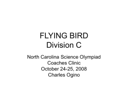 WRIGHT STUFF - North Carolina Science Olympiad