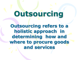 Outsourcing - Kansas State University
