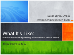 What It's Like:Practical Tools for Empowering Teen Victims