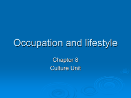 Occupation and lifestyle