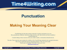 Punctuation Making Your Meaning Clear