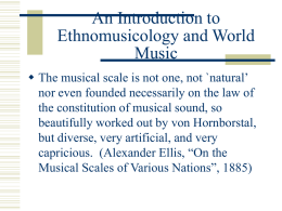 An Introduction to Ethnomusicology