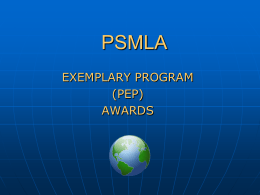 PEP Award Overview PowerPoint