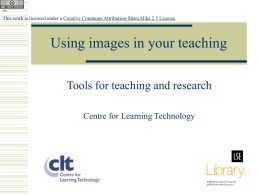 Using Images in your Teaching - University of the Arts London