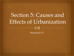 Section 5: Causes and Effects of Urbanization