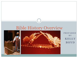 Bible History Overview