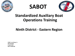 SABOT BOAT HANDLING - Welcome to the District 9ER Web Site
