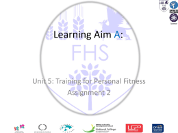 Learning aim B: Know about exercise adherence factors and