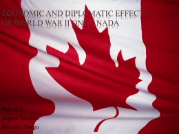 Economic and Diplomatic Effects of World War II on Canada