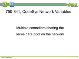 750-841, CodeSys Network Variables