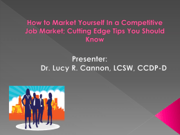How to Market Yourself In a Competitive Job Market
