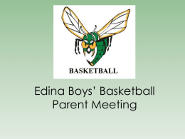 Holy Family Boys' Basketball Parent Meeting
