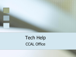 Tech Help - Middlebury College