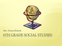 6th grade Social studies - Berkeley Heights Public Schools